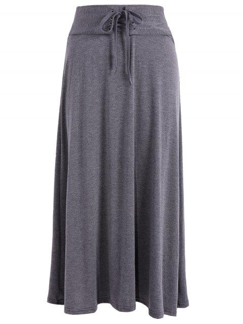 Jupe Taille Haute Laçage - gris foncé Taille Unique Mobile