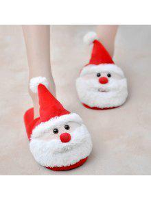 عيد الميلاد قطيع اللون كتلة النعال - أحمر حجم (37-38)