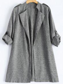 زائد الحجم معطفا - رمادي 4xl