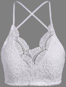 Buy Lace Padded Bra Top - WHITE ONE SIZE