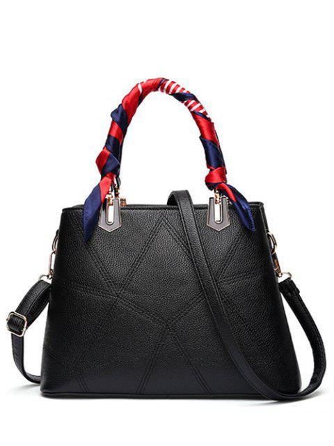 latest Geometric Pattern Scarves PU Leather Handbag -   Mobile