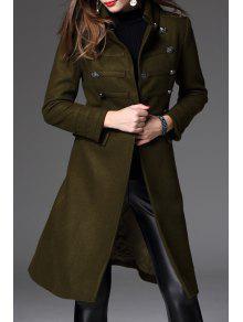 Laine Midi Blend Coat - Vert Olive   L