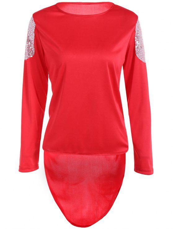 Camiseta alta de los cequis de los altos - Rojo M