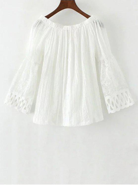 Lace impiombato Off The camicetta spalla - Bianco L