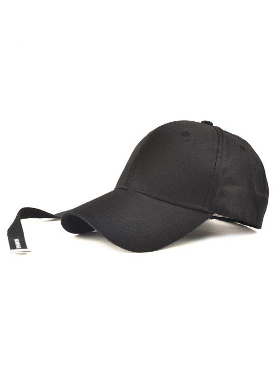 2019 Casual Long Strap Adjustable Baseball Cap In BLACK  0760232b18d