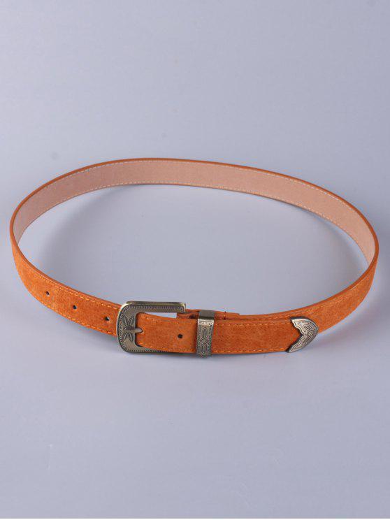 Desgaste de los pantalones hebilla de cinturón retro - Marrón Antiguo