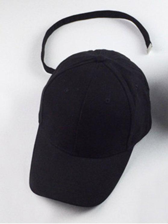 Parasol al aire libre del sombrero del Snapback de béisbol - Negro