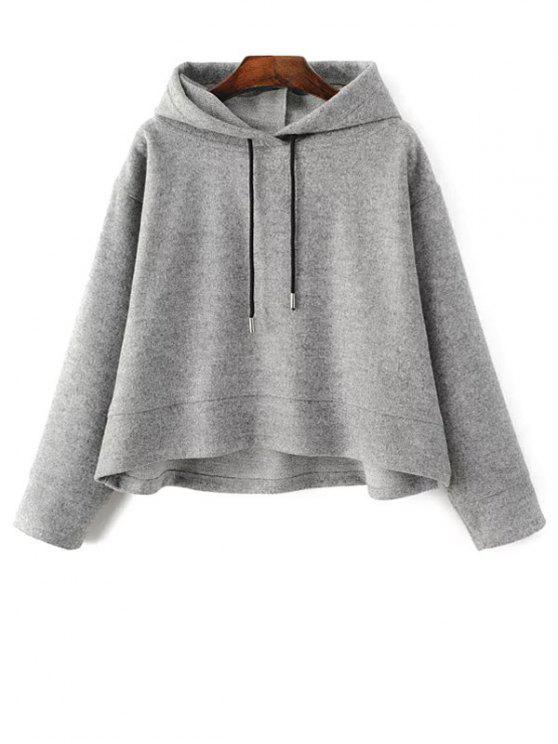 veste à capuche à grande taille à cordon de serrage - Gris L