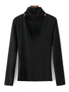 Turtle Neck Knitwear - Black L
