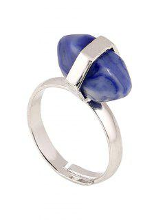Oval Faux Gemstone Ring - Blue