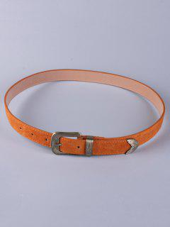 Trousers Wear Buckle Retro Belt - Antique Brown