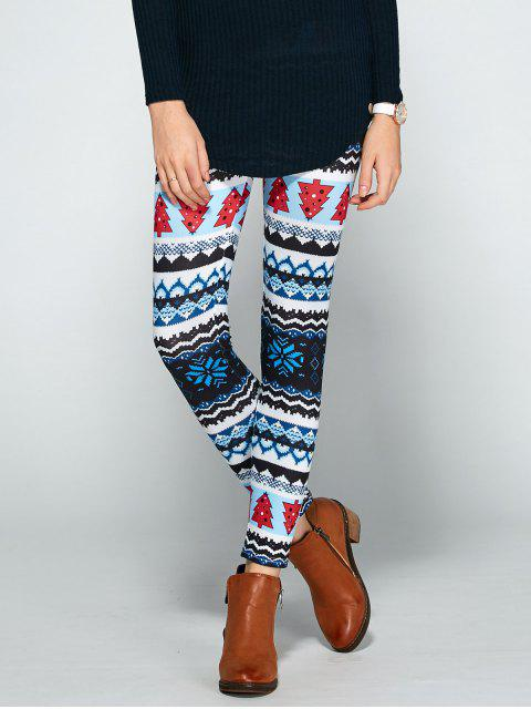 Leggings Ajustado Estampado Bloque Color - Colormix Única Talla Mobile