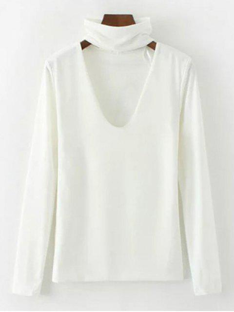 womens Turtle Neck Knitwear - WHITE M Mobile