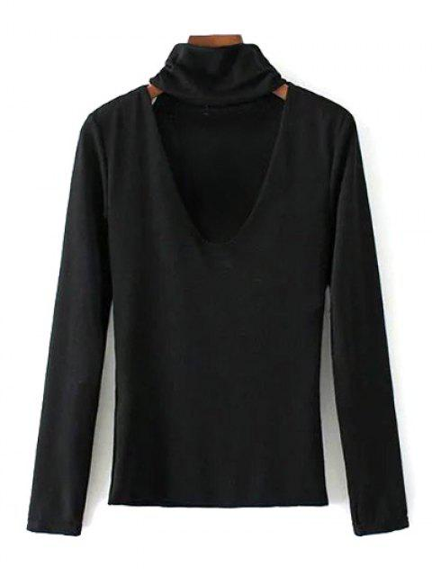 women's Turtle Neck Knitwear - BLACK M Mobile