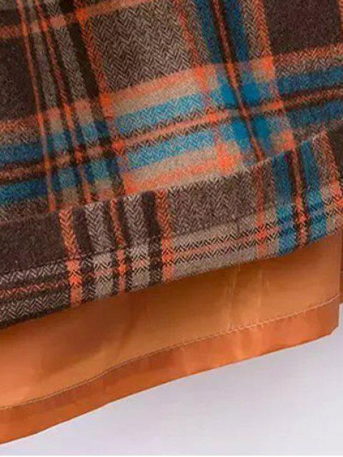 shops Plaid Wool Blend Shift Dress - COLORMIX M Mobile