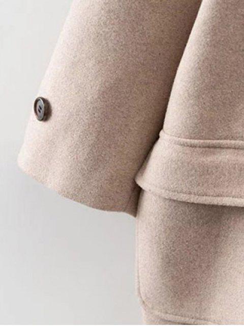 lady Hooded Duffel Walker Coat - KHAKI S Mobile