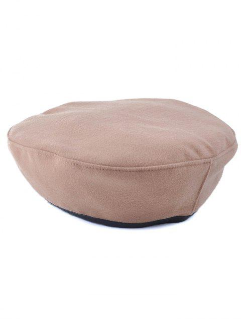 buy Casual Adjustable Flat Top Beret Cap - KHAKI  Mobile