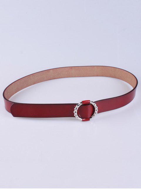 Ceinture de pantalon avec fermoir rond et creux - Rouge Foncé  Mobile