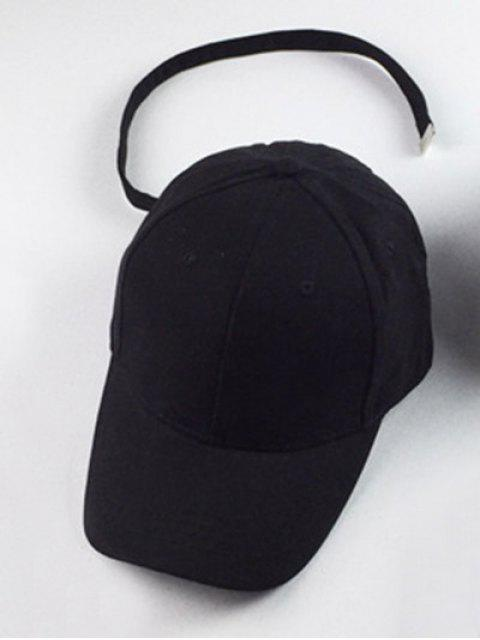 latest Outdoor Sunshade Snapback Baseball Hat - BLACK  Mobile