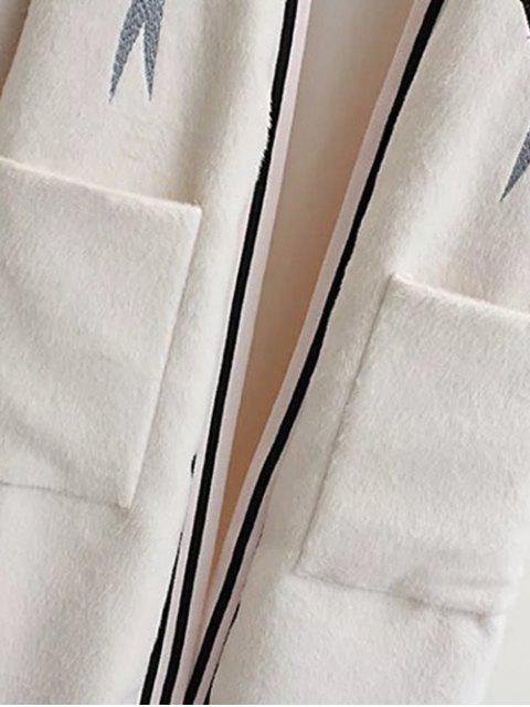 shops Collarless Bird Embroidered Coat - BLACK M Mobile