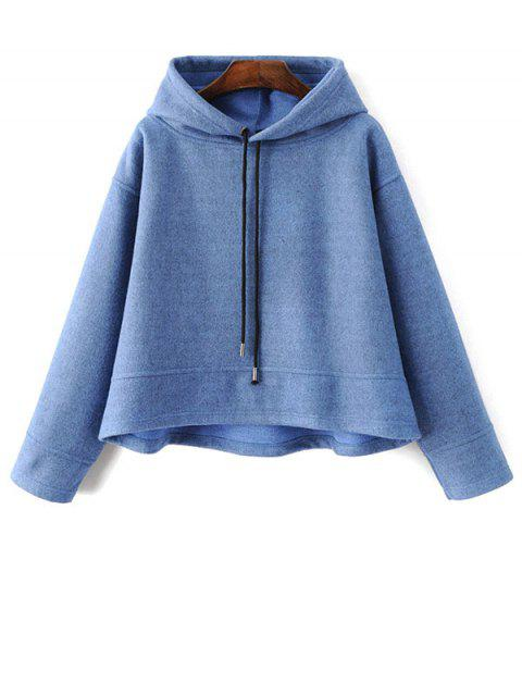 womens Oversized Drawstring Hoodie - BLUE S Mobile