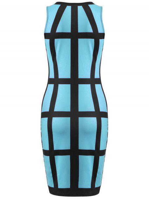 hot Checked Pencil Dress - AZURE S Mobile