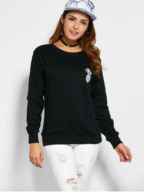affordable Pineapple Sweatshirt - BLACK S Mobile