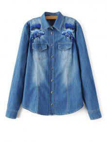 Camiseta Bleach Lavado De Mezclilla - Azul L