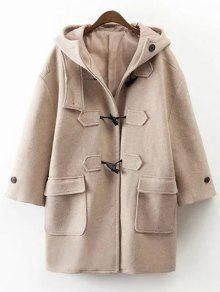 Hooded Duffel Walker Coat - Khaki S