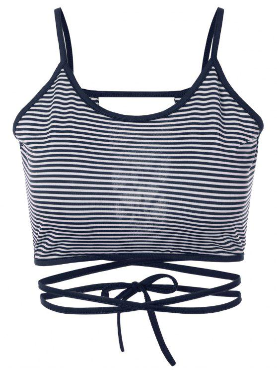 outfit Striped Strappy Camisole - BLUE S