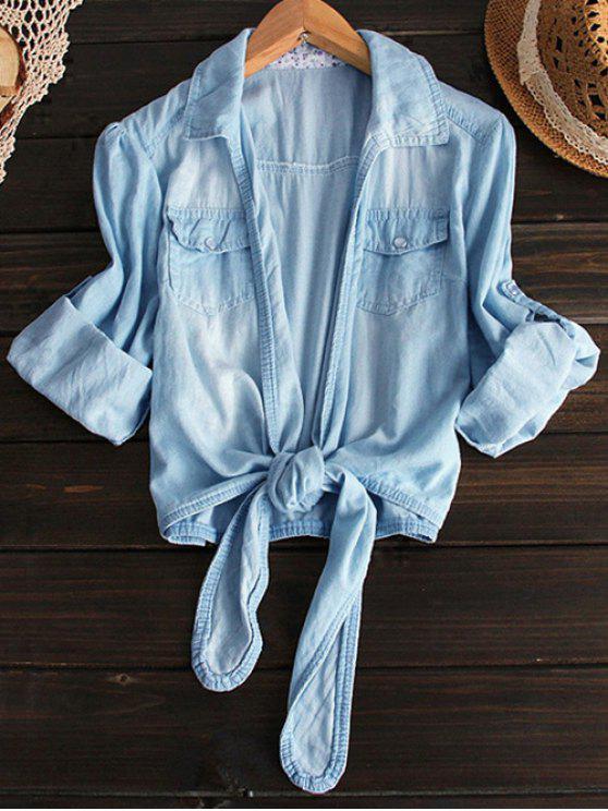 Chemisier en jean - Bleu clair L