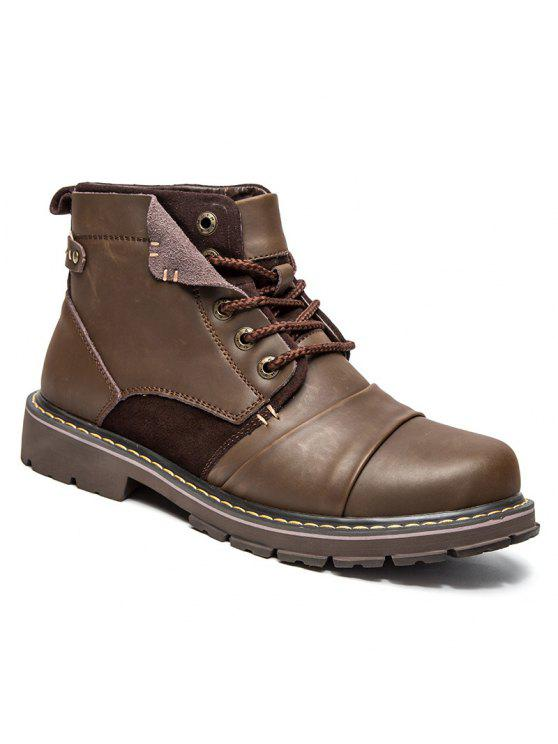 جلد الغزال إدراج الأحذية الجلدية قصيرة - بنى 40