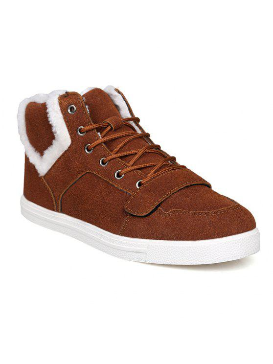 جلد الغزال الضبابي أحذية الكاحل - BROWN 44