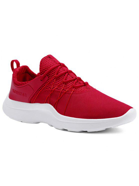 الدانتيل يصل شبكة الأحذية الرياضية - أحمر 43