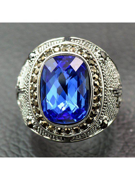 الرجعية فو كريستال حجر الراين خاتم - أزرق 18