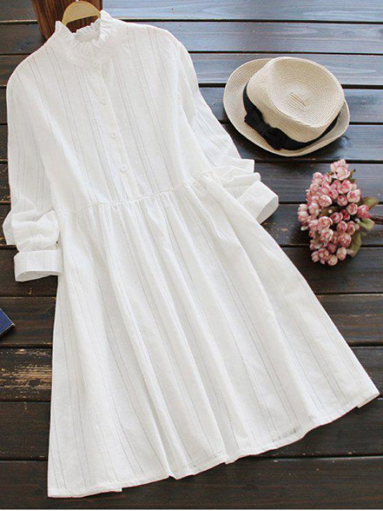 Ruff cuello de vestir delantal - Blanco Única Talla
