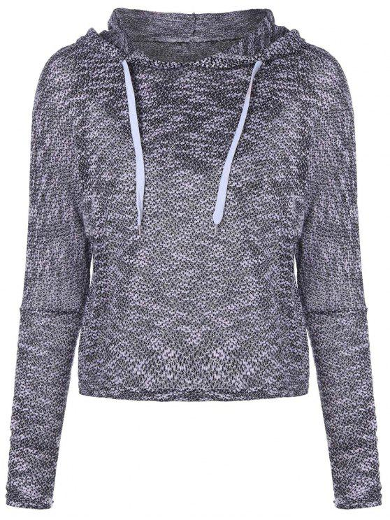 best Hooded Drawstring Sweater - GRAY 2XL
