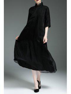 El Columpio CMIDI Heongsam Vestido - Negro M
