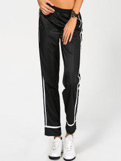 Stripes Track Pants - Black M