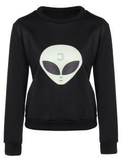 Casual Skull Sweatshirt - Black M