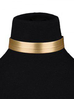 PU Choker Necklace - Golden