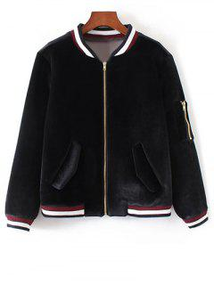 Zip-Up Souvenir Jacket - Black S