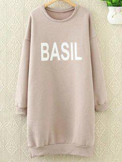 Long Letter Sweatshirt - Pink Xl