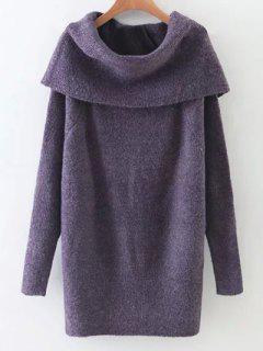 Robe Pull à Col Roulé - Pourpre