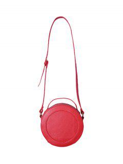 Double Zips PU Leather Canteen Bag - Red