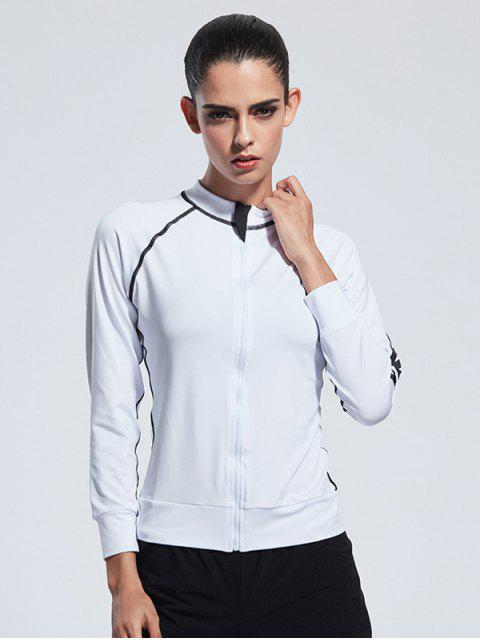 unique Bodycon Zipper Yoga Jacket -   Mobile