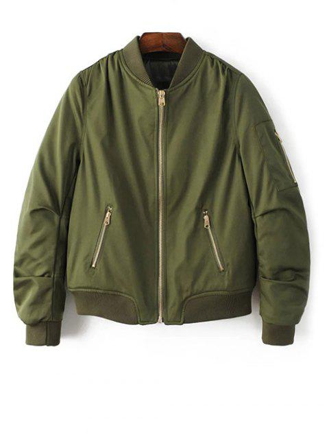 outfit Pilot Jacket With Pockets - ARMY GREEN M Mobile