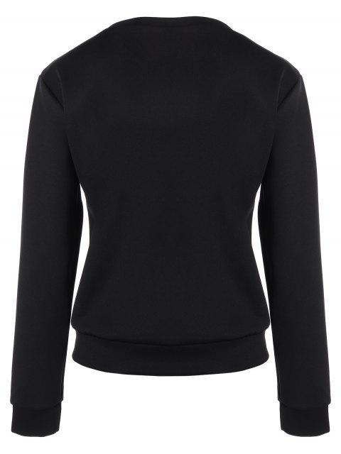 hot Casual Skull Sweatshirt - BLACK M Mobile