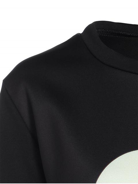 outfit Casual Skull Sweatshirt - BLACK S Mobile