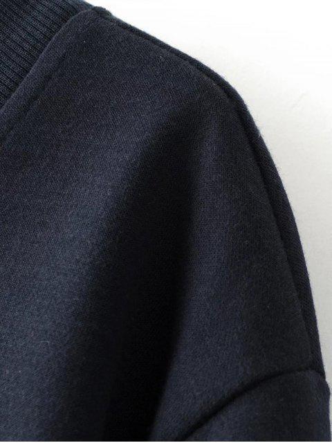 fancy Sequins Letter Sweatshirt - BLACK M Mobile